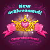 Cool vector illustration with princess crown Royalty Free Stock Photos