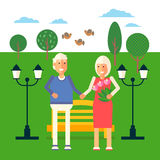 Cool vector pension retirement concept Royalty Free Stock Photos