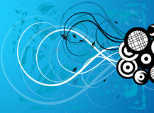 Cool Vector Swirls & Circles Stock Photography
