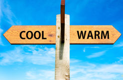 Cool versus Warm Stock Images