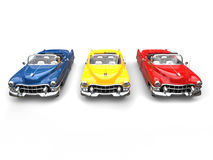 Cool vintage power cars - primary colors Royalty Free Stock Photo