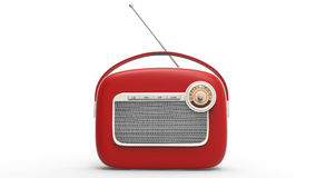 Cool vintage radio - front view Stock Photos