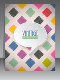 Cool vintage retro scrapbook cover design Royalty Free Stock Photography