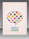 Cool vintage scrapbook cover with speech bubble Royalty Free Stock Image