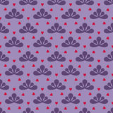 Cool leafy violet vector pattern Royalty Free Stock Photo