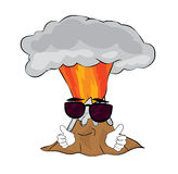 Cool volcano cartoon Stock Photography
