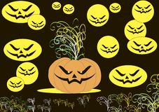 Cool wallpaper on the day of Halloween Royalty Free Stock Images