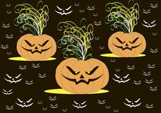 Cool wallpaper on the day of Halloween Stock Photography