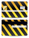 Cool warning credit card design Royalty Free Stock Photography