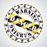 Cool warning seal Royalty Free Stock Photography