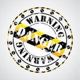 Cool warning seal. Cool grungy warning seal design Royalty Free Stock Photography
