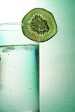 Cool Water. With a slice of kiwi Stock Photos
