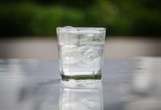 Cool water in cup glass Stock Images