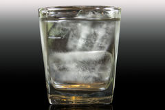 Cool water with ice in glass Royalty Free Stock Image