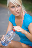 Cool water after the long run Royalty Free Stock Image