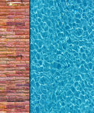Cool water in swimming pool Royalty Free Stock Images