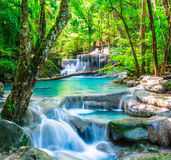 Cool waterfall in deep forest Stock Photography