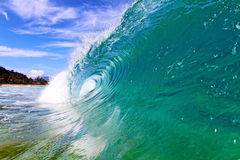 Cool Wave in Hawaii. A cool clean wave in Hawaii Royalty Free Stock Image