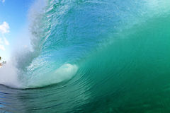 Cool wave. A perfect wave in Hawaii Royalty Free Stock Images