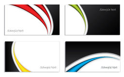 Cool waved business card set Royalty Free Stock Photo
