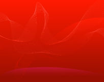 Cool waves. Decorative cool waves on red background Royalty Free Stock Images