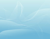 Cool waves. Decorative cool waves on blue background Royalty Free Stock Photography