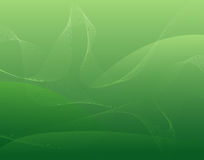 Cool waves. Decorative cool waves on green background stock illustration