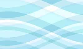 Cool waves. Retro style illustration of flowing waves Stock Photo