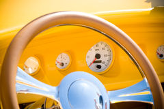 Dashboard of an antique car Royalty Free Stock Photos