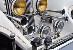 Cool white oldtimer car Stock Photos
