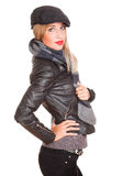 Cool winter fashion girl. Royalty Free Stock Photo
