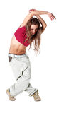 Cool woman dancer Royalty Free Stock Images