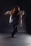 Cool woman modern dancer Stock Image