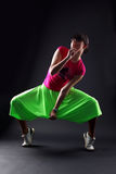Cool woman modern dancer Royalty Free Stock Image