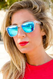 Cool woman with sunglasses Royalty Free Stock Photo
