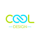 Cool word logo with infinity symbol Stock Photos