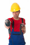 Cool worker Stock Images