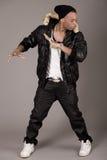 Cool young african american man dancing Stock Photos