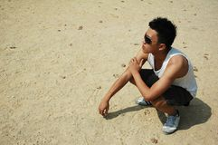 Cool Young Asian Chinese Man Stock Photography