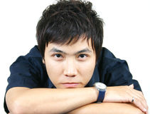Cool young asian guy Royalty Free Stock Photos