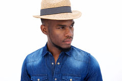 Cool young black guy with hat Stock Images