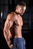 Cool young bodybuilder posing Royalty Free Stock Images