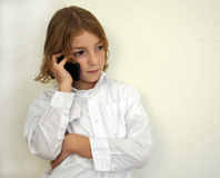 Cool Young Boy Talking on the Phone Royalty Free Stock Photo