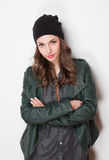 Cool young brunette. Royalty Free Stock Photos