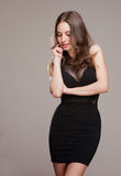 Cool young brunette. Royalty Free Stock Photography