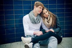 Cool young couple Stock Photography