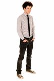 Cool young guy. Full length of a cool young guy Royalty Free Stock Photos