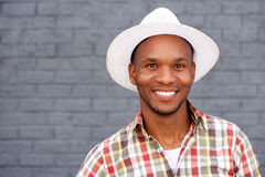 Cool young guy wearing hat Stock Images