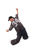 Cool young hip-hop man on white background Royalty Free Stock Photography