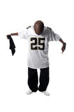 Cool young hip-hop man on white background. Cool young hip-hop dancer making a move Stock Photography
